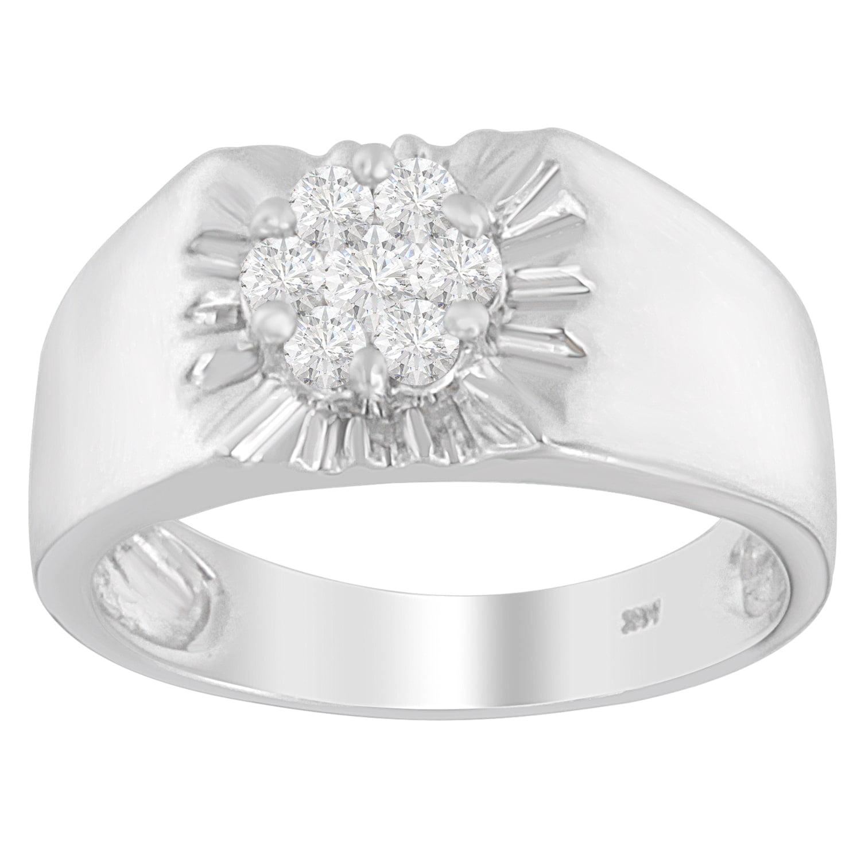 VJG 14k White Gold 1/2ct TDW Round-cut Diamond Ring