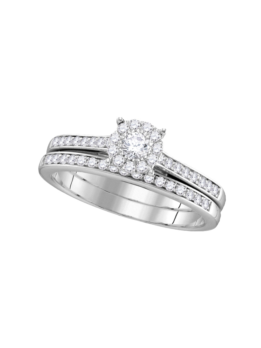 14KT White Gold 1 2CTW DIAMOND FASHION BRIDAL SET by