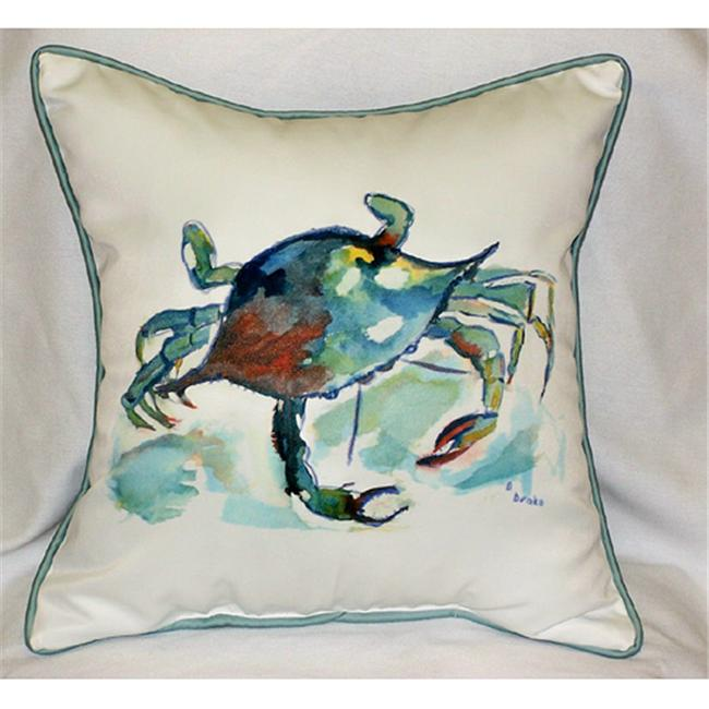 Betsy Drake HJ105 Betsy's Crab Art Only Pillow 18x18