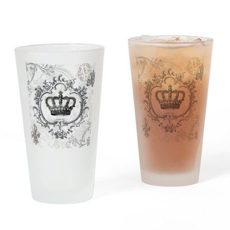 CafePress - Vintage French Shabby Chic Crown - Pint Glass, Drinking Glass, 16 oz. (Chic Glasses)