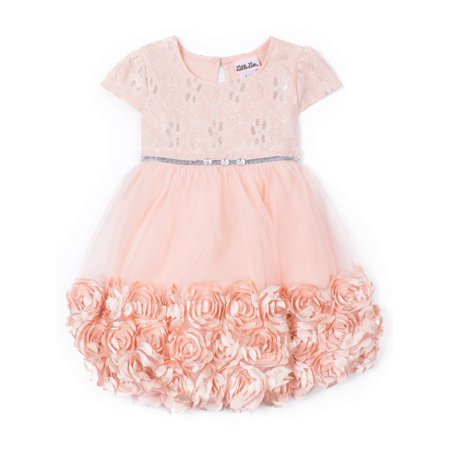 3D Floral Occasion Dress (Little Girls) - Floral Occasion Dress