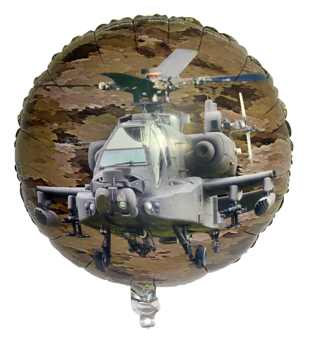 Military Camo Mylar Balloon Doubled Sided Apache/Jet