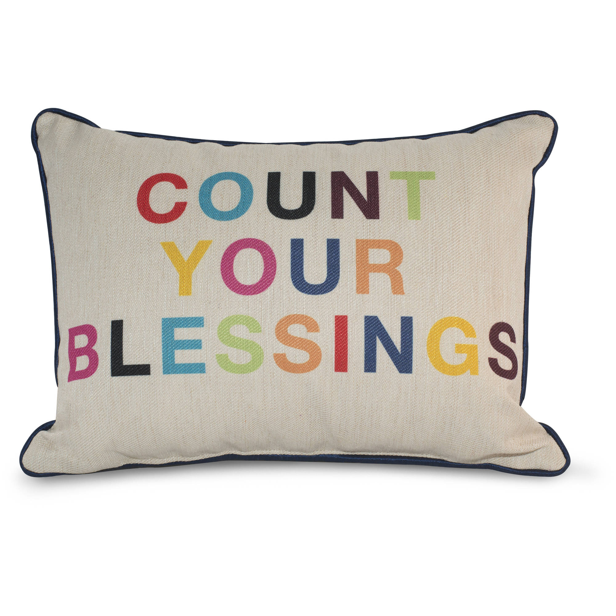 9 by Novogratz Count Your Blessings Decorative Pillow