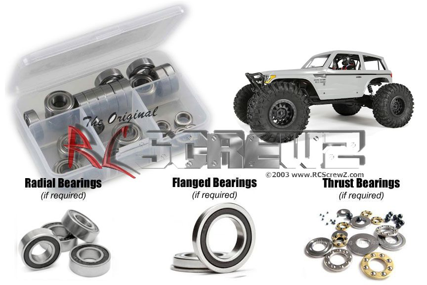 RCScrewZ Axial Wraith Spawn 4wd Rubber Shielded Bearing Kit #axi018r by RCScrewZ