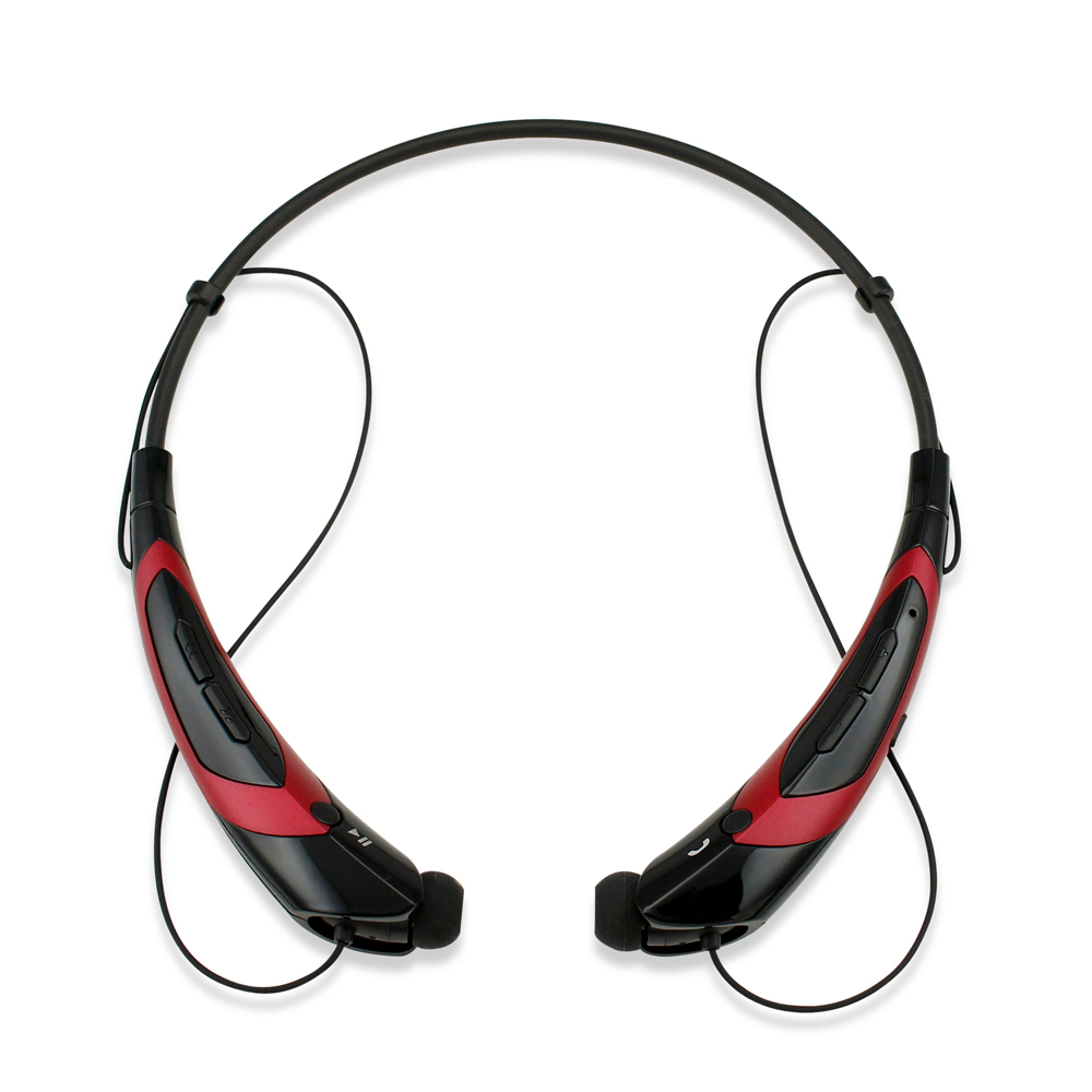 Duotone Sport Wireless Bluetooth Headset Headphone Stereo Handfree Universal Earphone -BlackRed