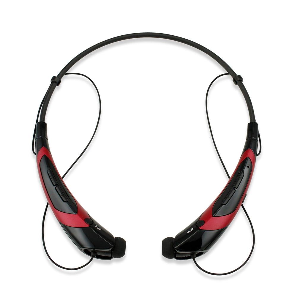 Duotone Sport Wireless Bluetooth Headset Headphone Stereo Handfree Universal Earphone -BlackRed
