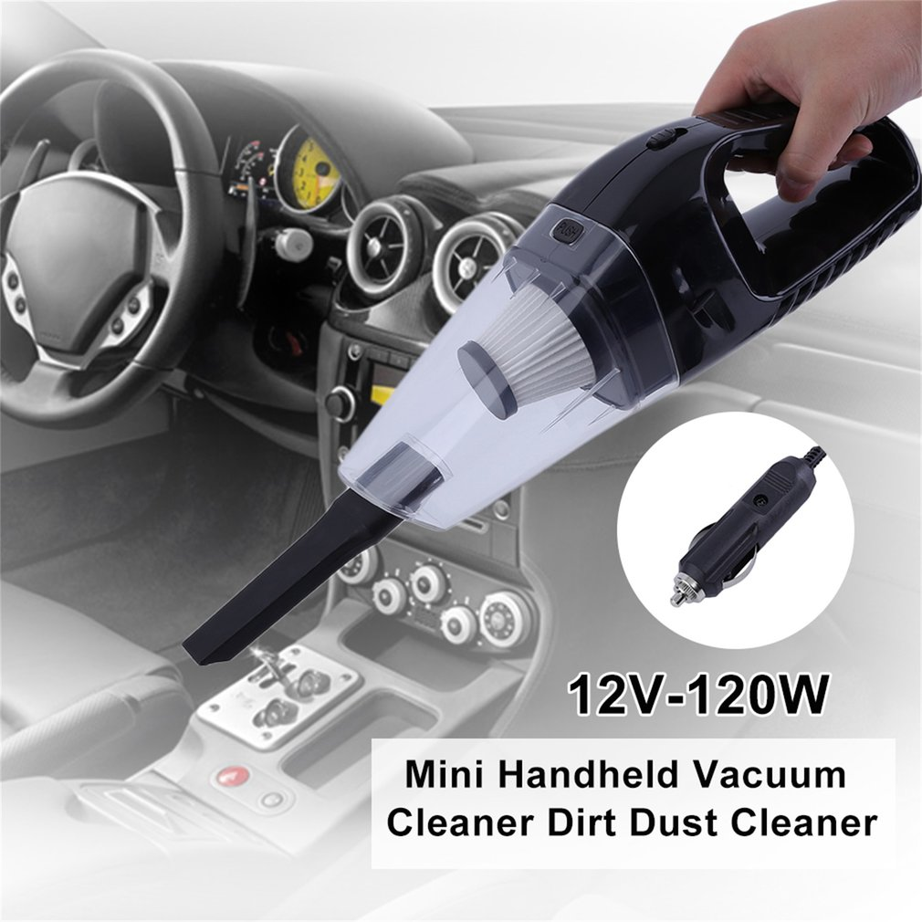 High Power Portable 12V-120W Car Mini Handheld Vacuum Cleaner Dirt Dust Cleaner Collector Cleaning Appliances