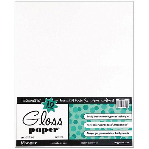 "Ranger Inkssentials Glossy Cardstock, 8-1/2"" x 11"