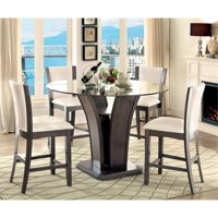 Furniture of America Waverly 5-Piece Counter Height Dining Set in Gray