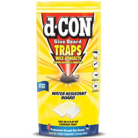 4 Pack Glue Mouse - 4 Pack - d-CON Glue Board Traps for Mice & Insects, 4 Traps