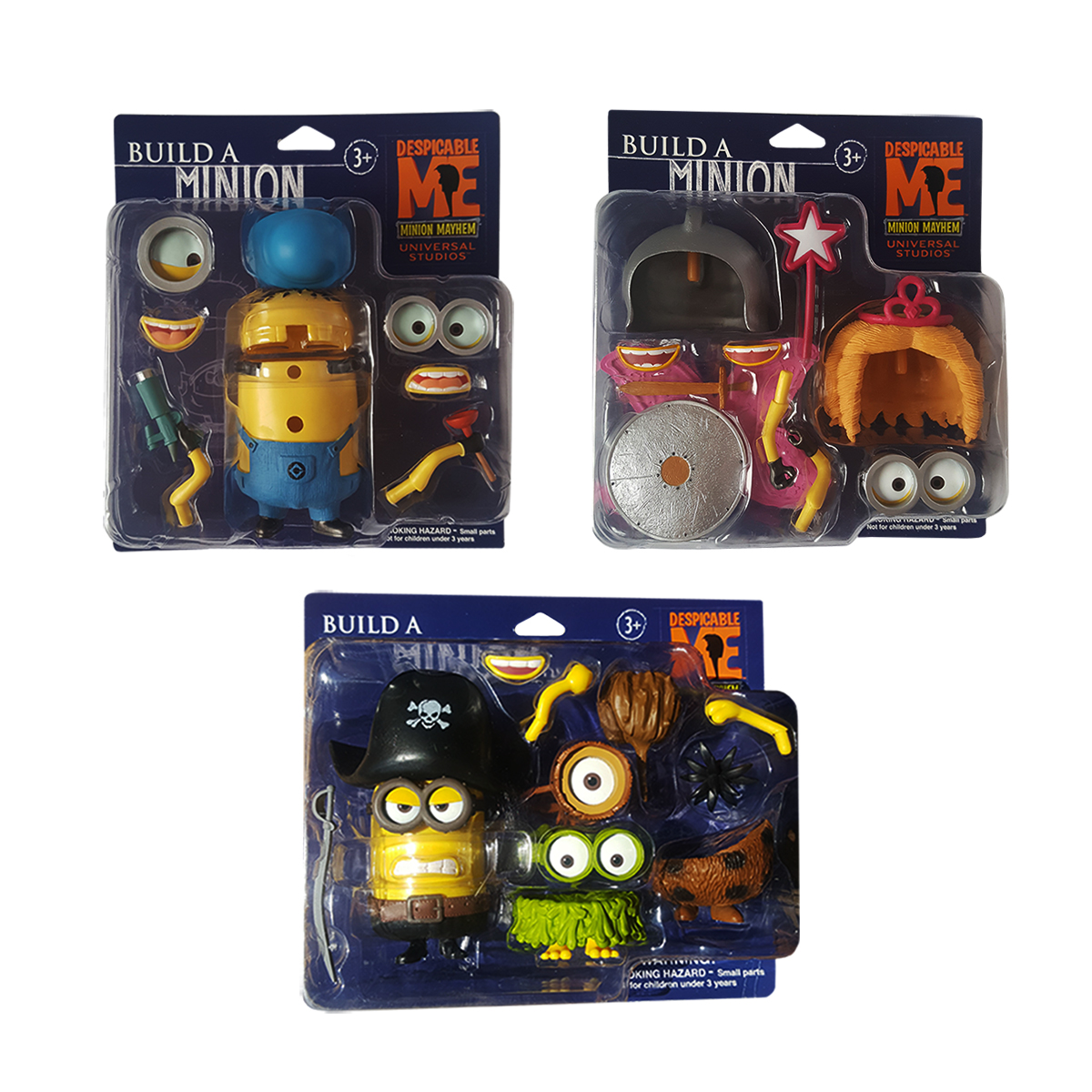 "Despicable Me Minion Mayhem Build A Minion 4"" Universal Studios Figure Gift set by"