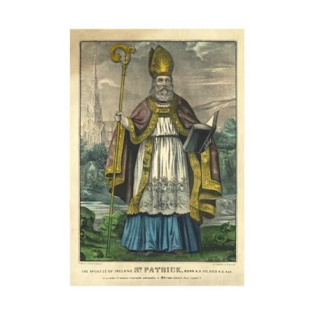 St Patrick, Pub. Currier and Ives, C.1860 Print Wall Art Currier & Ives Scene