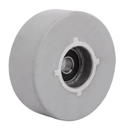 65mmx8mmx25mm Rubber Coated Steel Pinch Roller Rolling Wheel Gray ()