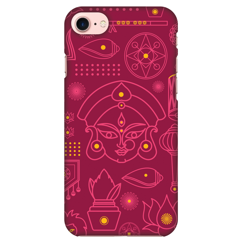 iPhone 8 Case - Divine Goddess - Red, Hard Plastic Back Cover. Slim Profile Cute Printed Designer Snap on Case with Screen Cleaning Kit