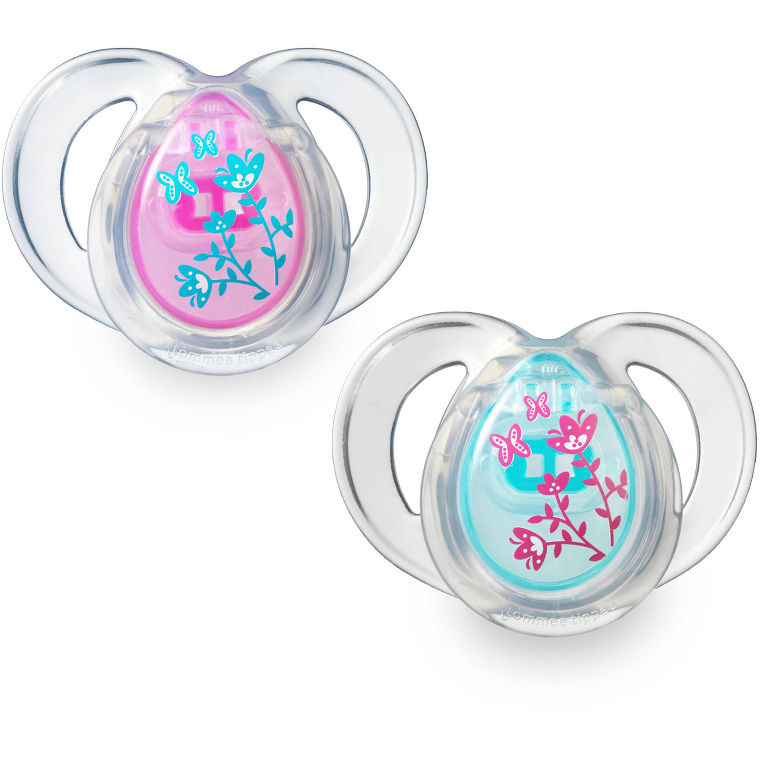 Tommee Tippee Closer to Nature 6-18 Month Everyday Pacifiers, 2pk, Girl