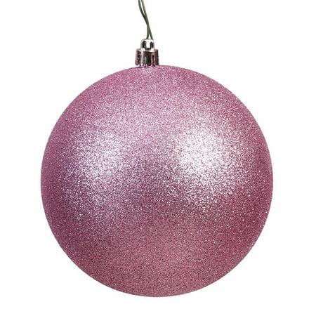Vickerman N591245DG Mauve Glitter Drilled Ball Ornament, 4.75 in. - 4 per Bag - image 1 de 1