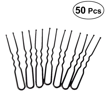 Diy Halloween Hair Clips (Pixnor 50pcs Bobby Hair Pins U Shaped Black Metal Hair Clips DIY Hairstyle for Buns, Updo)