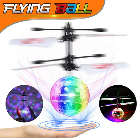 Flying Ball Toys, RC Toy for Kids Boys Girls Gifts Rechargeable Light Up Ball Drone Infrared Induction Helicopter Hands Controlled for Indoor and Outdoor Games ()