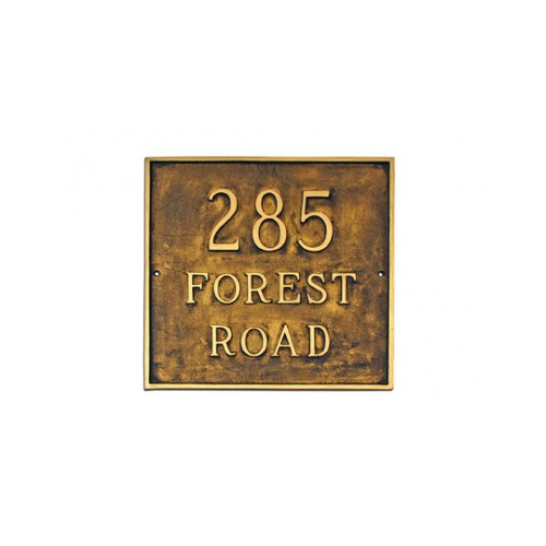 Montague Metal Products Inc. Classic Grande Square Address Plaque