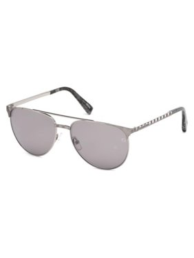 5bc1fc2a8a6 Product Image Sunglasses Ermenegildo Zegna EZ 0040 14C shiny light  ruthenium   smoke mirror