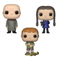 Funko POP! TV The Addams Family Collectors Set 2 - Uncle Fester, Wednesday, Pugsley