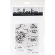 "Two Paper Divas Clear Stamps, 7.5"" x 6"", Rejoice"