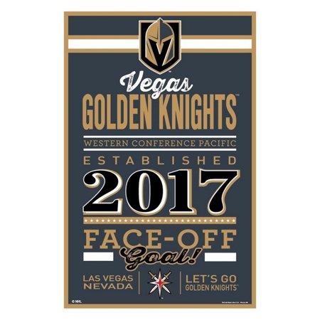 Vegas Golden Knights Sign 11x17 Wood Established Design](Established Sign)