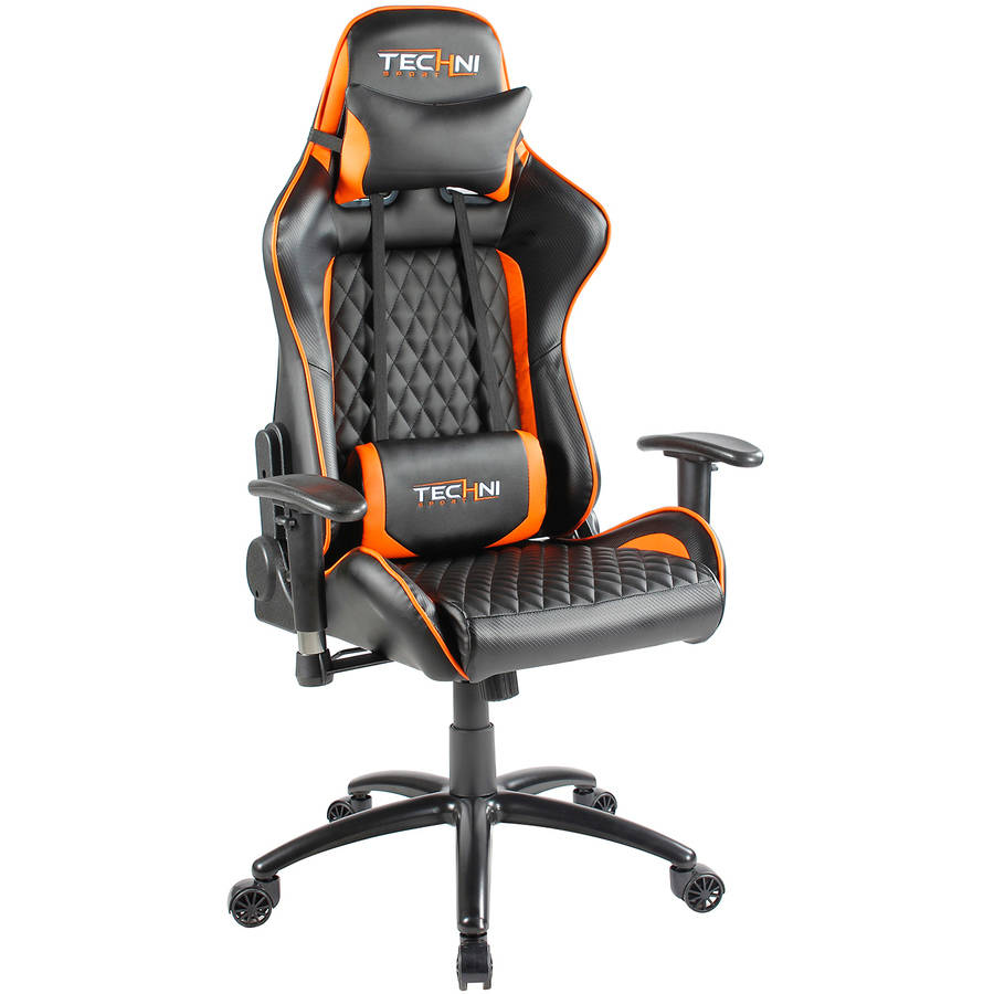 Techni Sport Office-PC Gaming Chair. Color: Orange