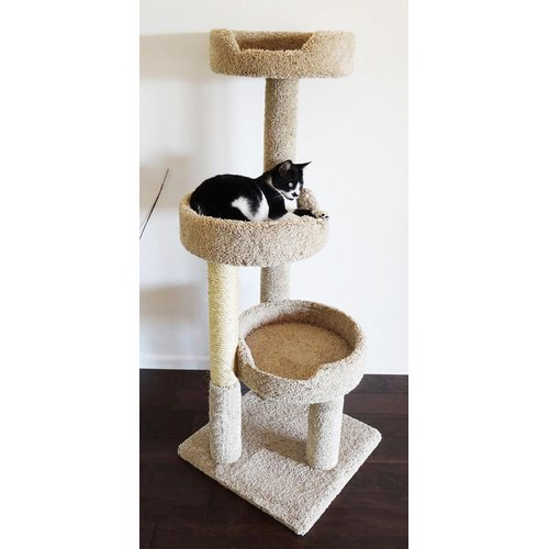 New Cat Condos 50'' Premier Kitty Pad Cat Tree