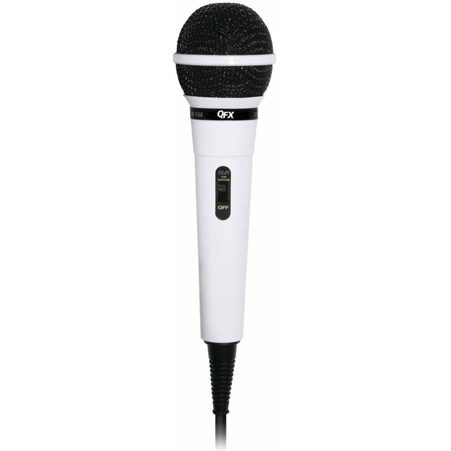 QFX M-106 Unidirectional Dynamic Microphone with 10' Cable by QFX