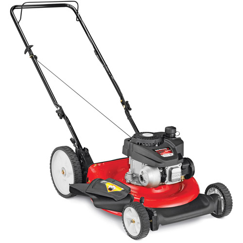 "Yard Machines 21"" Gas Push Lawn Mower with Side Discharge, Mulching and High Rear Wheel"