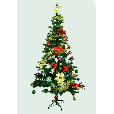 1.8 M Eco-Friendly Fully Decorated Christmas Pine Tree - image 2 of 2 ...