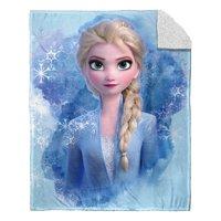 "Disney Frozen 2 Blue Elsa Silk Touch Sherpa Throw Blanket, 40"" x 50"""