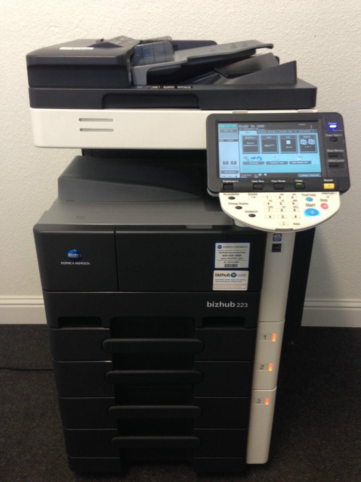 Konica Minolta Bizhub 223 Copier Printer Scanner USB & FREE SHIPPING inside USA by Konica Minolta