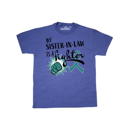 Ovarian Cancer Awareness My Sister-in-law is a Fighter T-Shirt