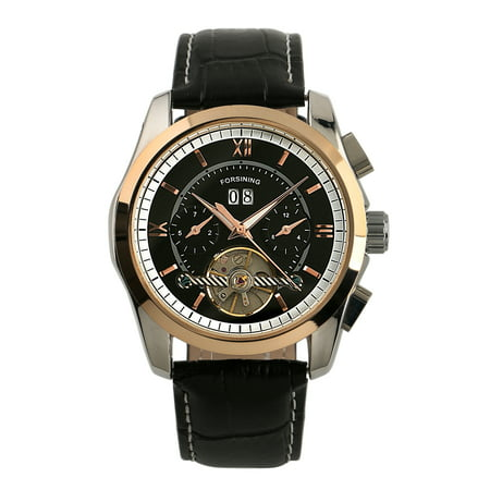Forsining Tourbillon Automatic Mechanical Watch Date Month Display Rose (Tourbillon Rose)