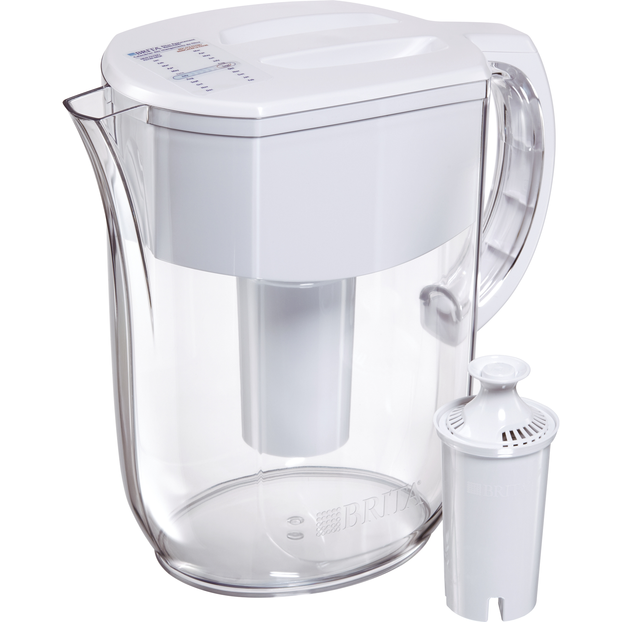 Brita Large Everyday Water Pitcher with Filter - 10 Cup - BPA Free - White