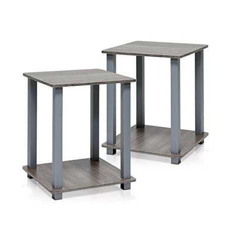 Furinno 12127GYW/GY Simplistic End Table, Set of Two, French Oak Grey - image 1 de 1