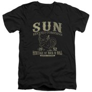 Sun Records Rockabilly Bird Mens V-Neck Shirt