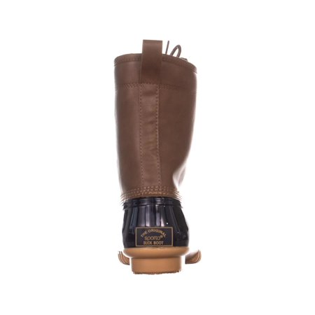 The Original Duck Boot by Sporto Ariel Lace Up Duck Rain Boots, Tan/Navy - image 3 of 6