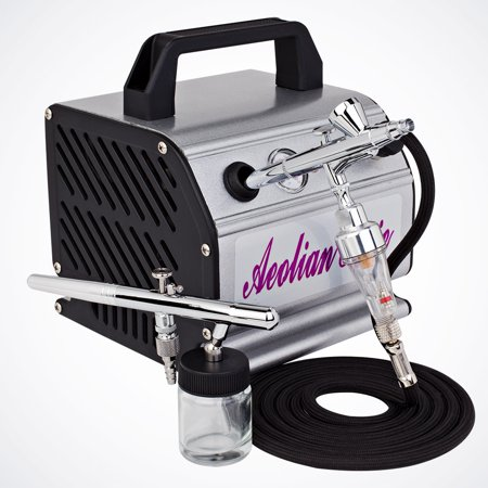 Pro 2 dual action airbrush air compressor kit hobby for Car paint air compressor