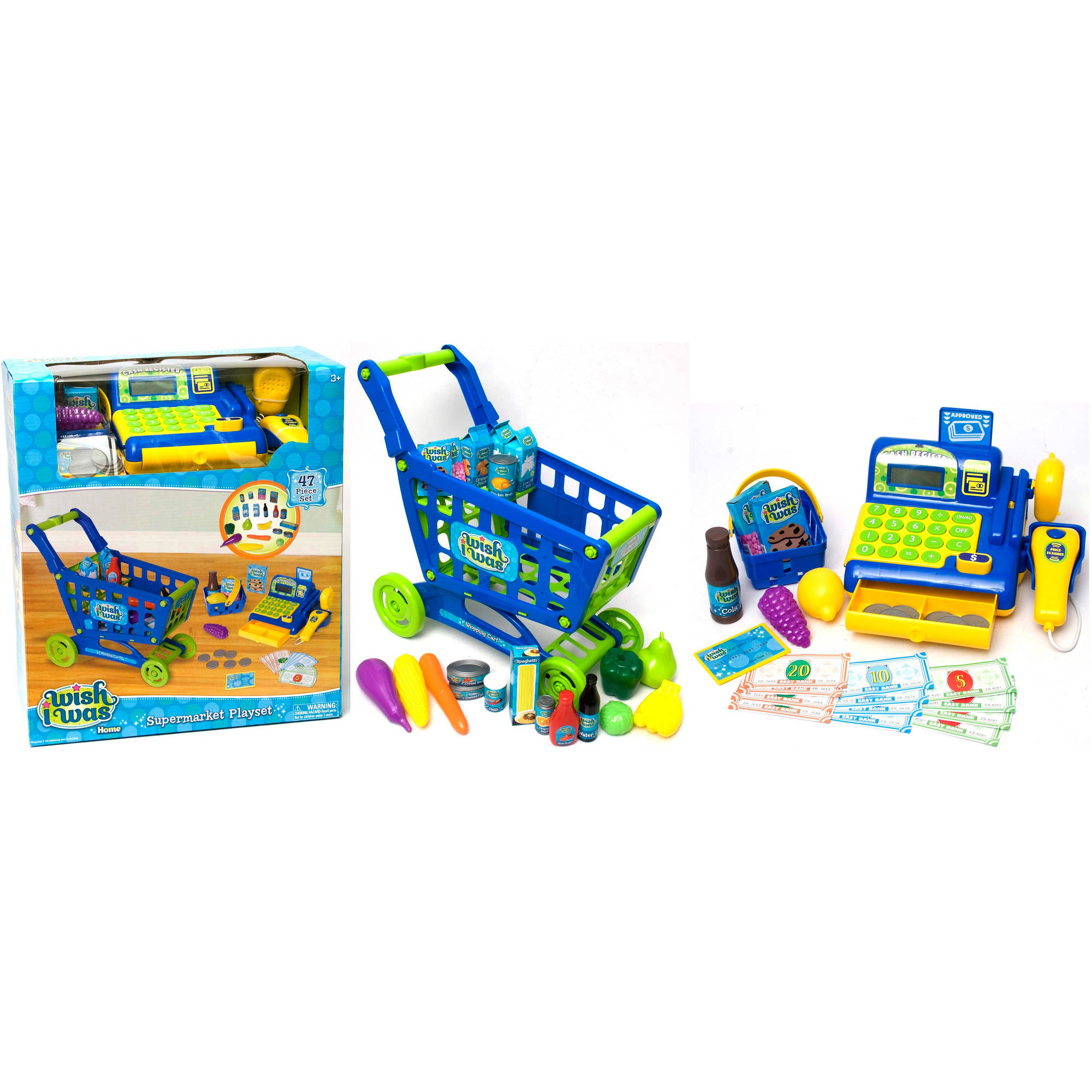Supermarket Playset, Blue