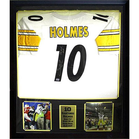 NFL 36x44 Autographed Jersey Frame, Santonio Holmes Pittsburgh ...