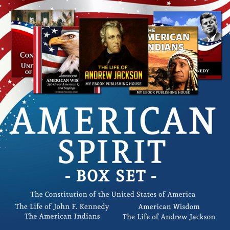 American Spirit Medium Box - American Spirit Bundle - 5 Audiobooks Box Set About US Culture, People, Democracy, History, Constitution, Government and Politics - Audiobook