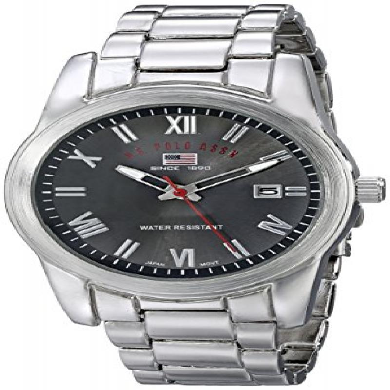 U.S. POLO ASSN Sport Men's US8002 Silver-tone Sporty Brac...