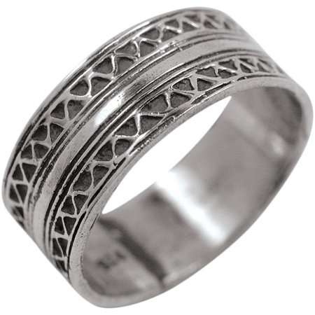 Inlayed Band - Silver Ring