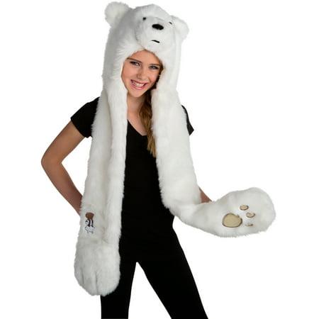 We Bare Bears Ice Bear Hood Costume Accessory (Ice Costume)