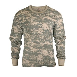Mens Long Sleeve ACU Digital Camo T-Shirt