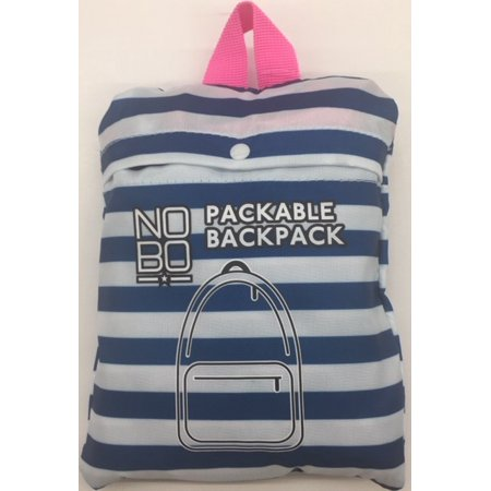 Packable Backpack Blue Stripe