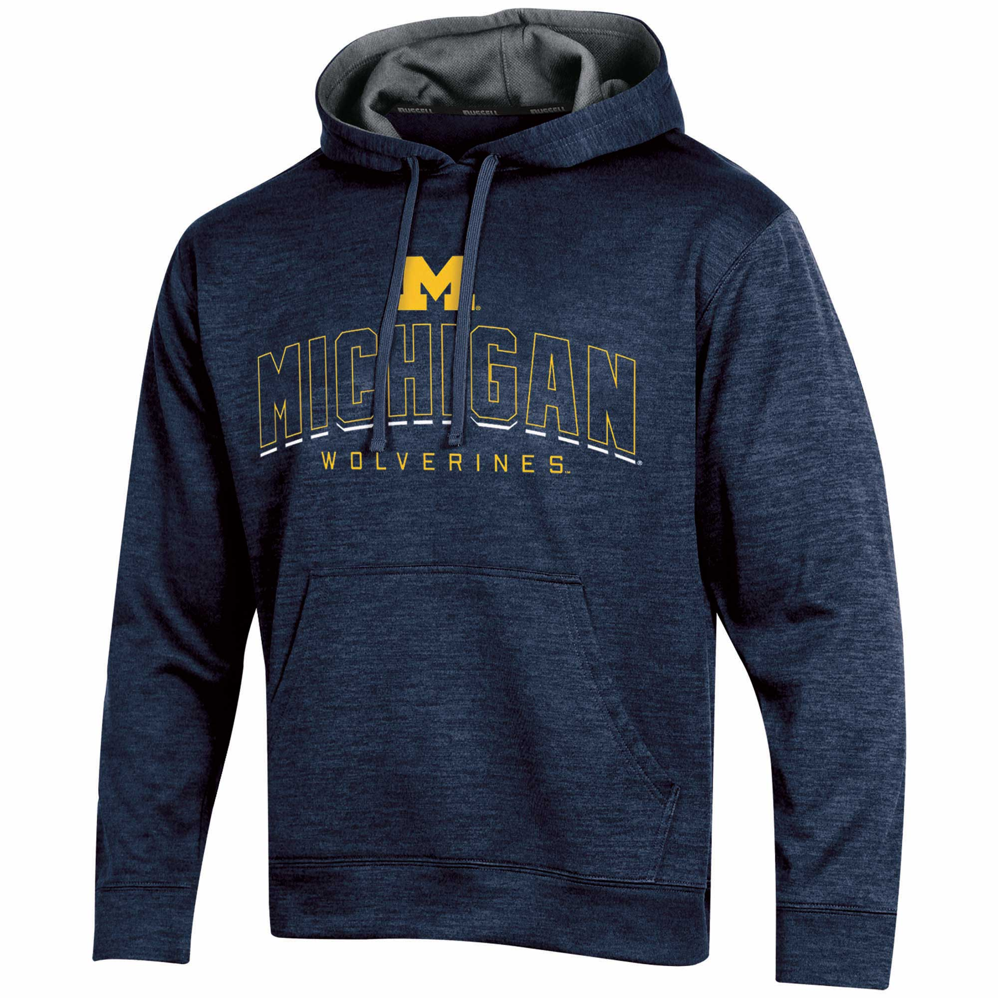 Men's Russell Navy Michigan Wolverines Synthetic Pullover Hoodie